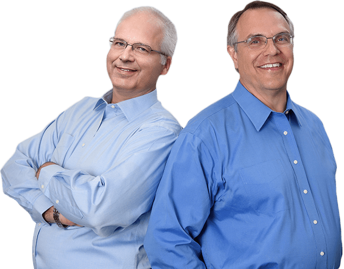 Indianapolis dentists Dr. Mark Farthing and Dr. Armin Tepner