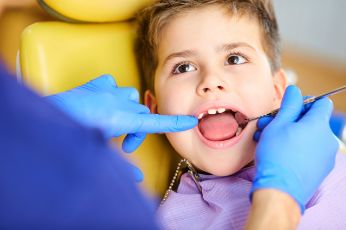 A child in the dental chair